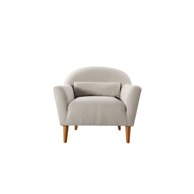 Mach Recessed Barrel Chair Upholstery: Bone White