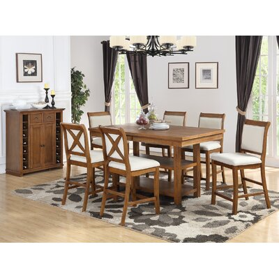 Courson 7 Piece Counter Height Dining Set