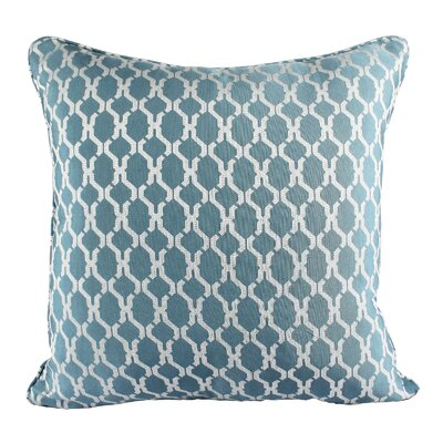 Loughton Cozy Jacquard Plaid Pillow Cover Color: Turquoise