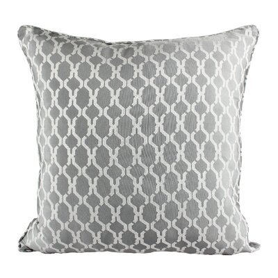 Loughton Cozy Jacquard Plaid Pillow Cover Color: Gray