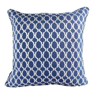 Loughton Cozy Jacquard Plaid Pillow Cover Color: Blue