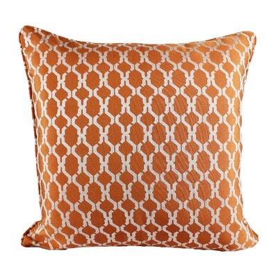 Loughton Cozy Jacquard Plaid Pillow Cover Color: Orange
