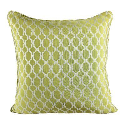 Loughton Cozy Jacquard Plaid Pillow Cover Color: Green