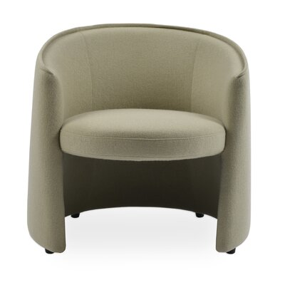 Miami Barrel Chair Upholstery: Black
