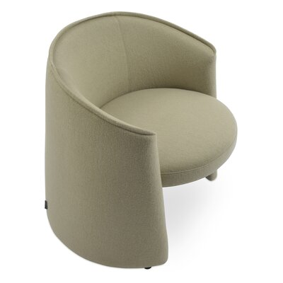 Miami Barrel Chair Upholstery: Light Gray