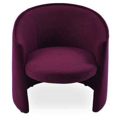 Miami Barrel Chair Upholstery: Dark Red