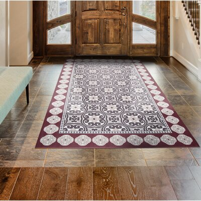 Calm Step Memory Foam Red Area Rug Rug Size: Rectangle 23 x 39
