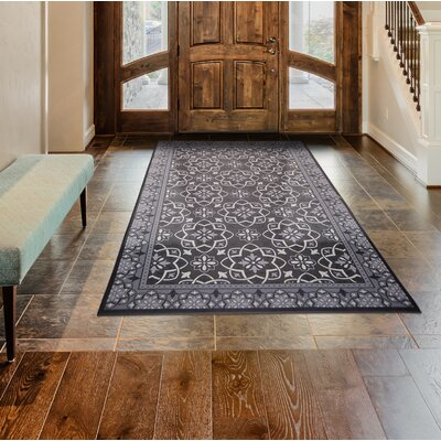 Calm Step Memory Foam Gray Area Rug Rug Size: Rectangle 33 x 5