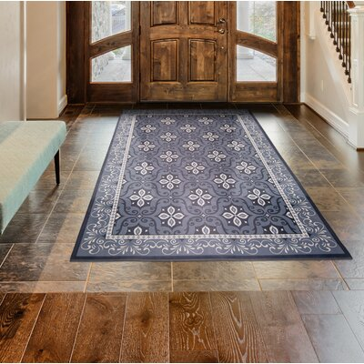 Calm Step Memory Foam Gray Area Rug Rug Size: Rectangle 23 x 39