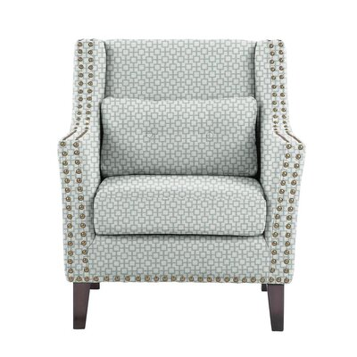 Diez Armchair Upholstery: Off-White/Blue