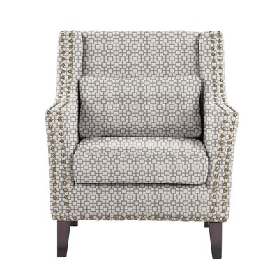 Diez Armchair Upholstery: Off-White/Gray