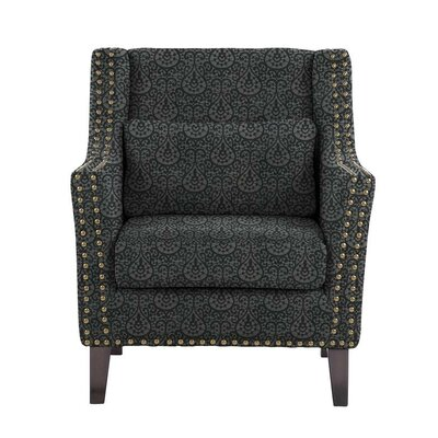 Soila Armchair Upholstery: Black/Dark Gray