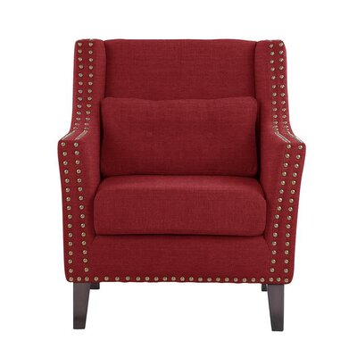 Way Wick Armchair Upholstery: Red