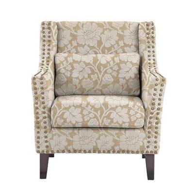 Soila Armchair Upholstery: Beige/White