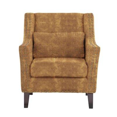 Way Wick Armchair Upholstery: Brown/Burnt Orange