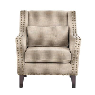 Soila Armchair Upholstery: Cream/Tan