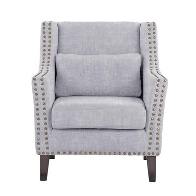 Soila Armchair Upholstery: Light Blue/Gray