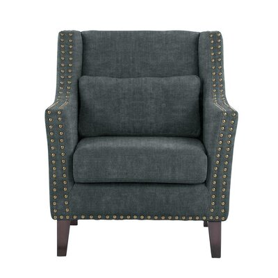 Soila Armchair Upholstery: Dark Blue/Gray