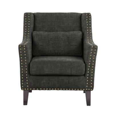 Soila Armchair Upholstery: Charcoal