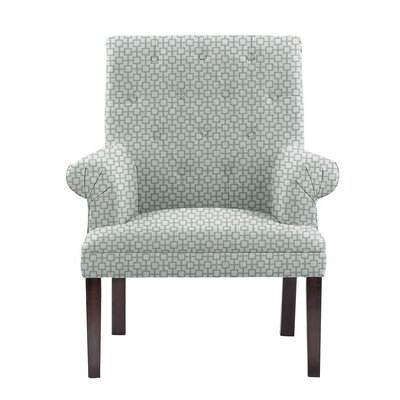 Difiore Armchair Upholstery: Off-White/Blue