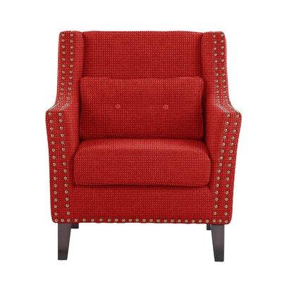 Soila Armchair Upholstery: Red