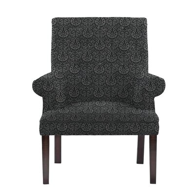 Obryant Armchair Upholstery: Black/Dark Gray