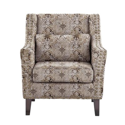Obrian Armchair Upholstery: Brown/Gray/Tan