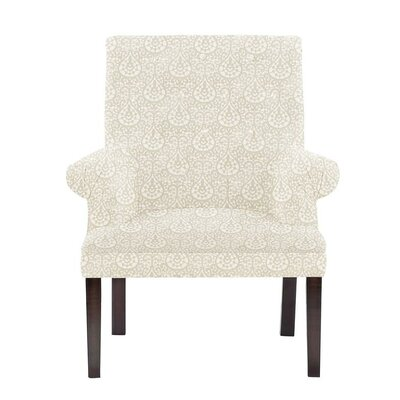 Obryant Armchair Upholstery: White/Cream