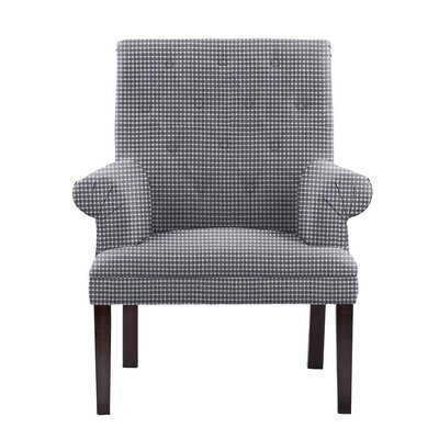 Waylon Armchair Upholstery: Blue/White