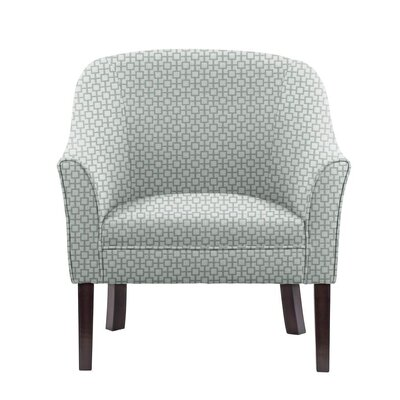 Difranco Club Chair Upholstery: Off-White/Blue