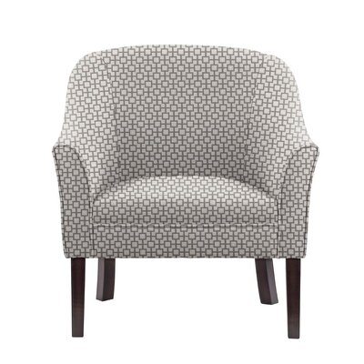 Difranco Club Chair Upholstery: Off-White/Gray