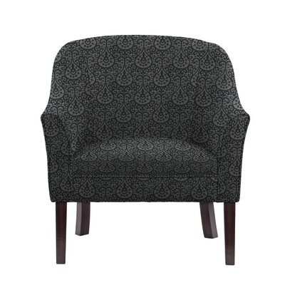Obyrne Club Chair Upholstery: Black/Dark Gray