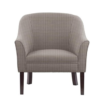 Filip Club Chair Upholstery: Brown