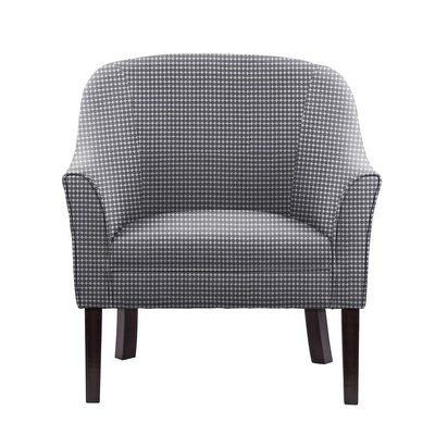 Wayman Club Chair Upholstery: Blue/White