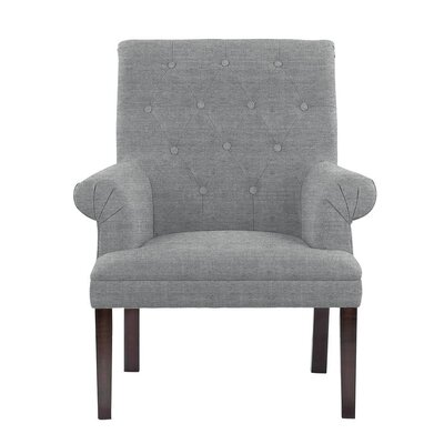 Hippocrates Armchair Upholstery: Blue/Gray