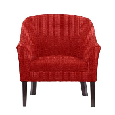Difranco Club Chair Upholstery: Red