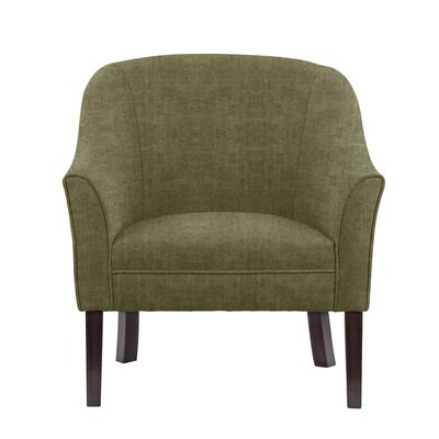 Difranco Club Chair Upholstery: Green/Gray