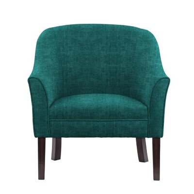 Difranco Club Chair Upholstery: Teal/Blue
