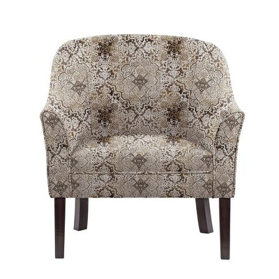 Obyrne Club Chair Upholstery: Brown/Gray/Tan