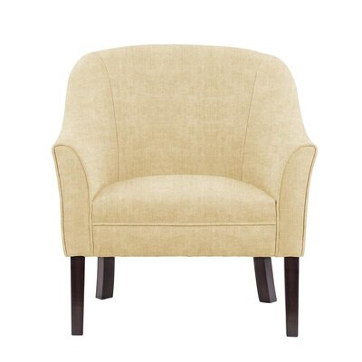 Difranco Club Chair Upholstery: Dark Cream