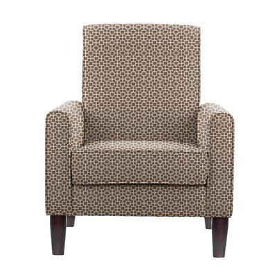 Digennaro Armchair Upholstery: Brown