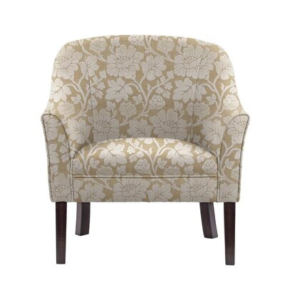 Sommer Club Chair Upholstery: Beige/White