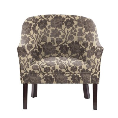 Sommer Club Chair Upholstery: Beige/Gray