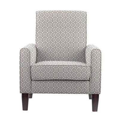 Digennaro Armchair Upholstery: Off-White/Gray