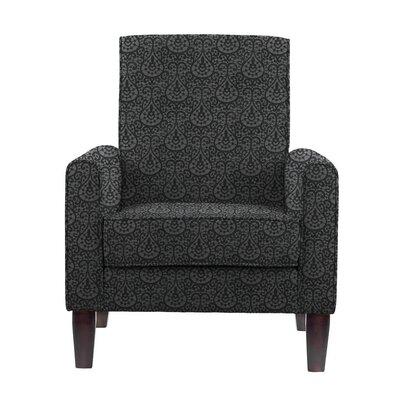 Ocallaghan Armchair Upholstery: Black/Dark Gray