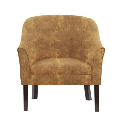 Difranco Club Chair Upholstery: Brown/Burnt Orange