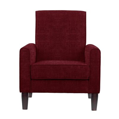 Digennaro Armchair Upholstery: Red/Cherry