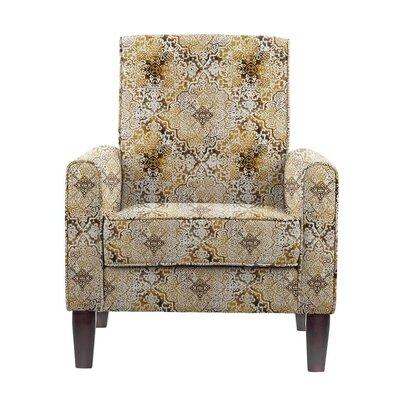 Ocallaghan Armchair Upholstery: Brown/Burnt Orange