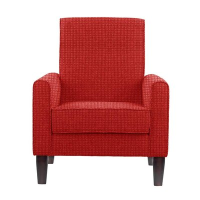 Digennaro Armchair Upholstery: Red