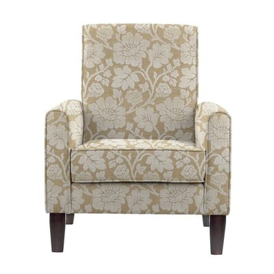 Songy Armchair Upholstery: Beige/White